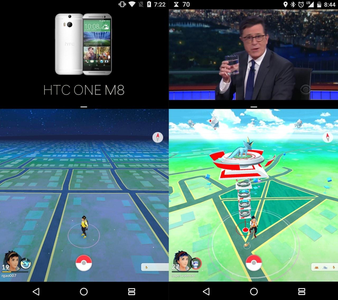 Come usare il multi-window di Nougat con Pokémon GO e altre app non supportate (no root)