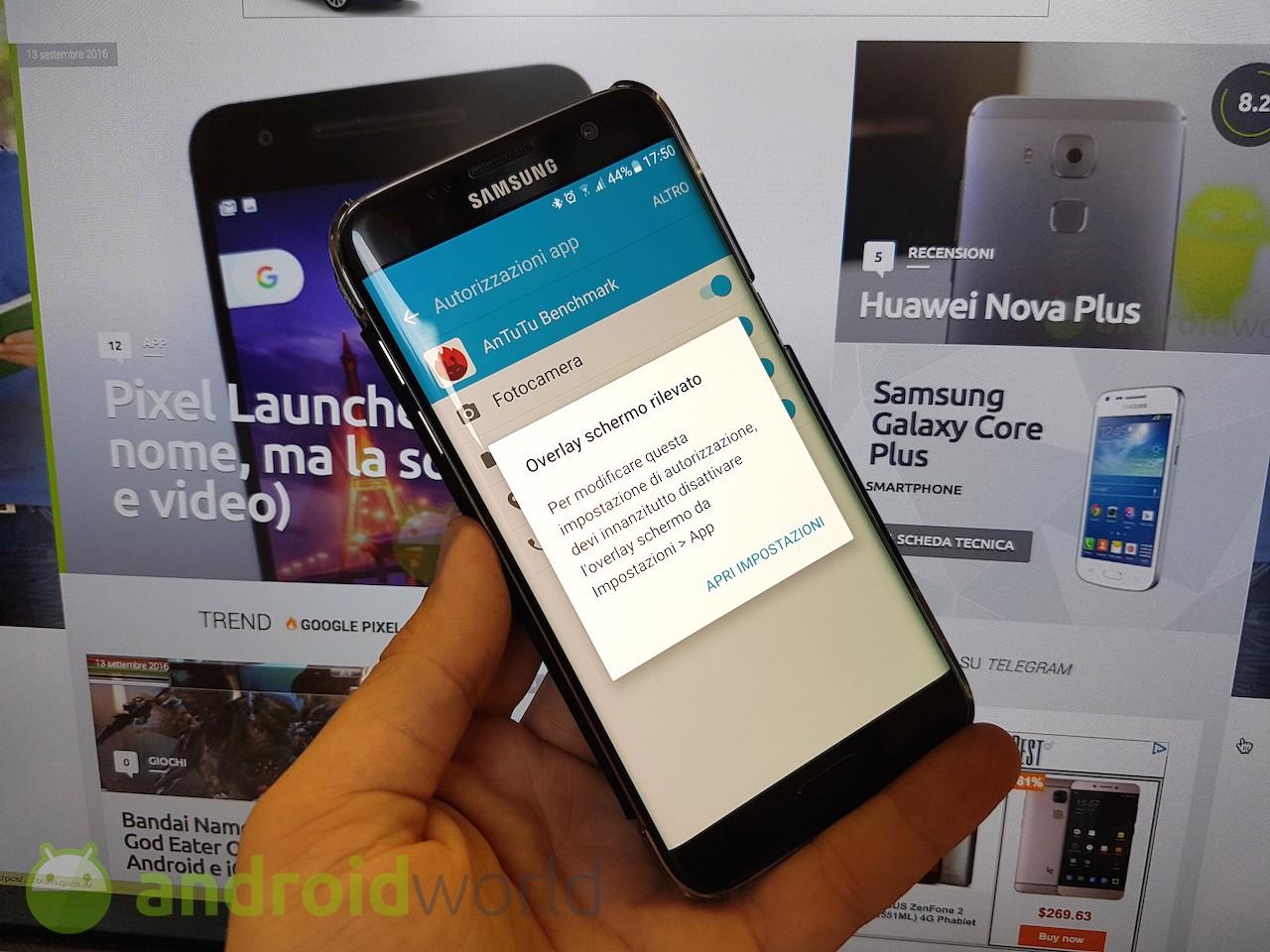 Overlay Schermo Rilevato Cos è Come Disattivarlo Android