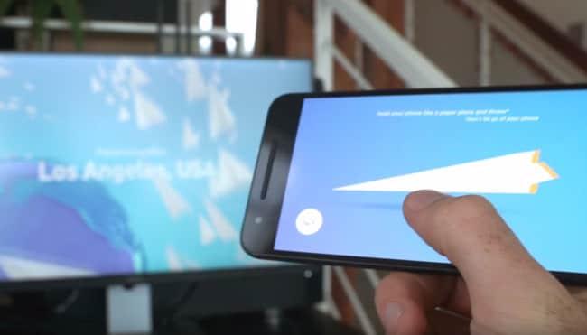 Paper Planes, l'Android Experiment per lanciare aeroplani di carta dall'altra parte del mondo (foto e video)