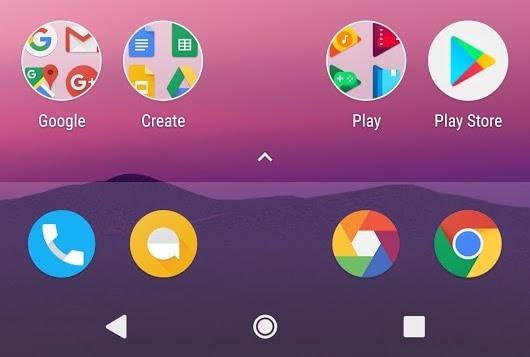E se la home di Android Nougat avesse solo icone circolari?