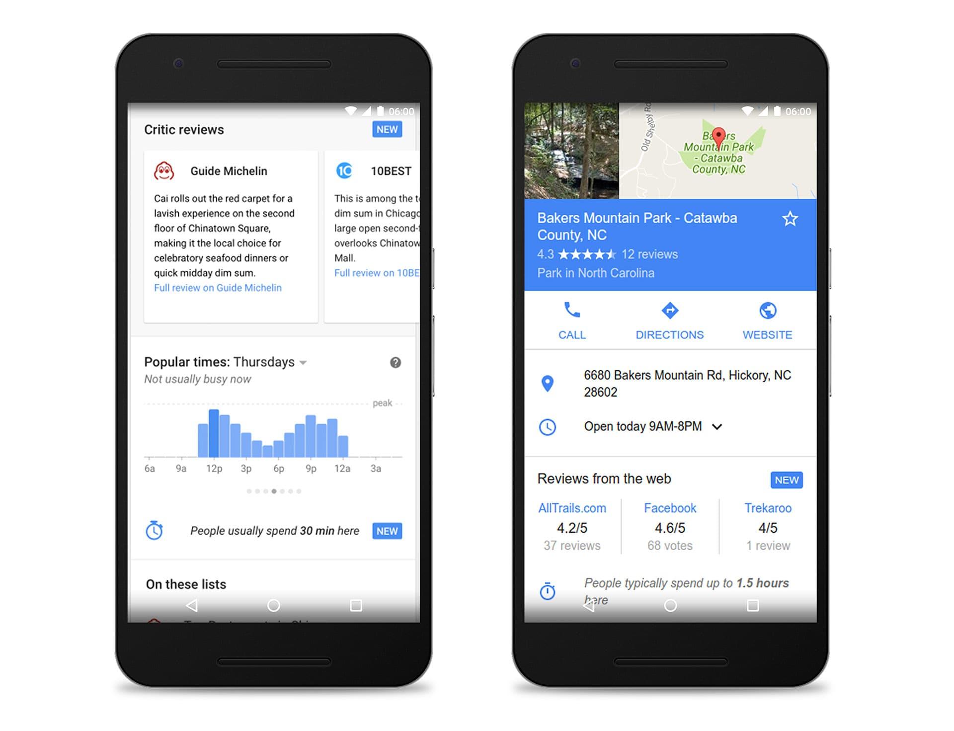 I siti web contribuiranno alle recensioni che trovate su Ricerca Google