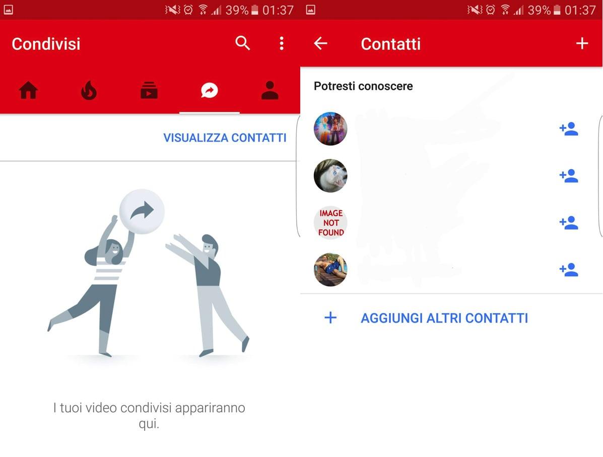 Google sta testando un nuova sezione Condivisi su YouTube