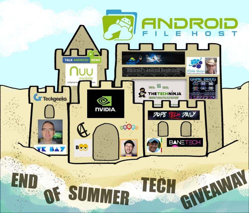 AndroidFileHost lancia un giveaway di fine estate: tanti i premi in palio!
