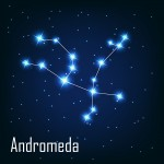 "constellation "" Andromeda"" star in the night sky. Vector ill"