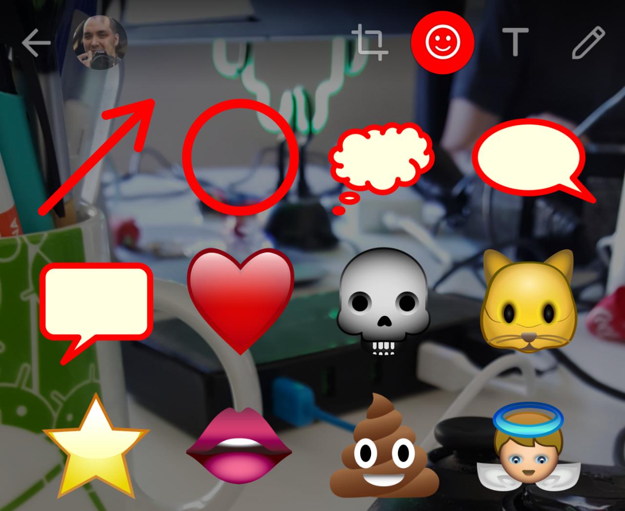 Avete provato i tool per disegnare sulle foto in WhatsApp beta? (aggiornato: flash per i selfie)
