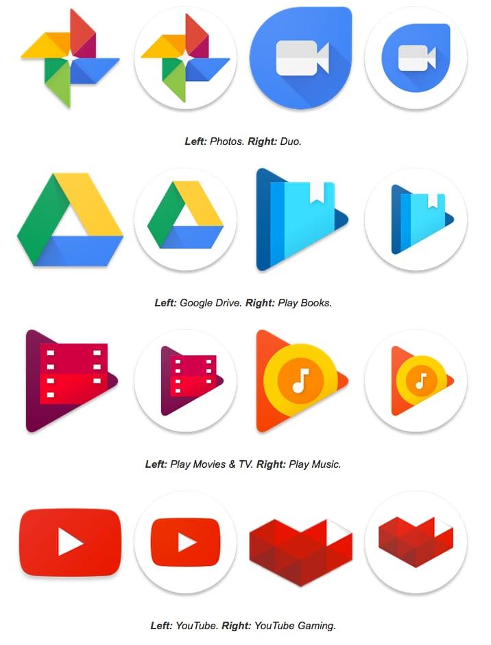 Le app Google nascondono delle icone circolari, pronte per il Pixel Launcher: ecco come sono! (foto)