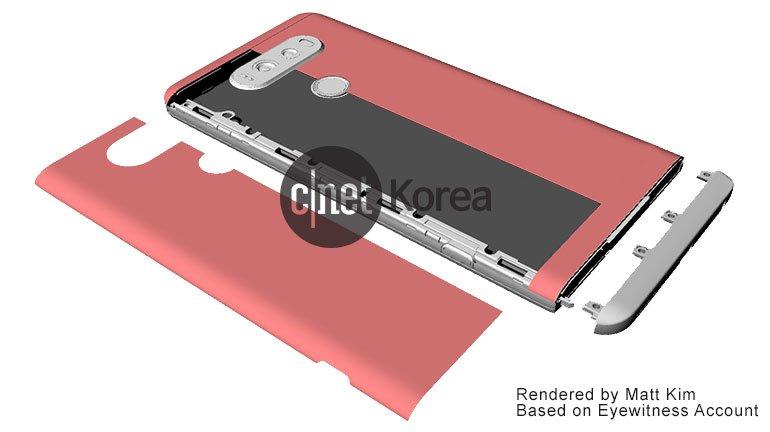 Questi render confermano che LG V20 sarà uno smartphone modulare (foto)