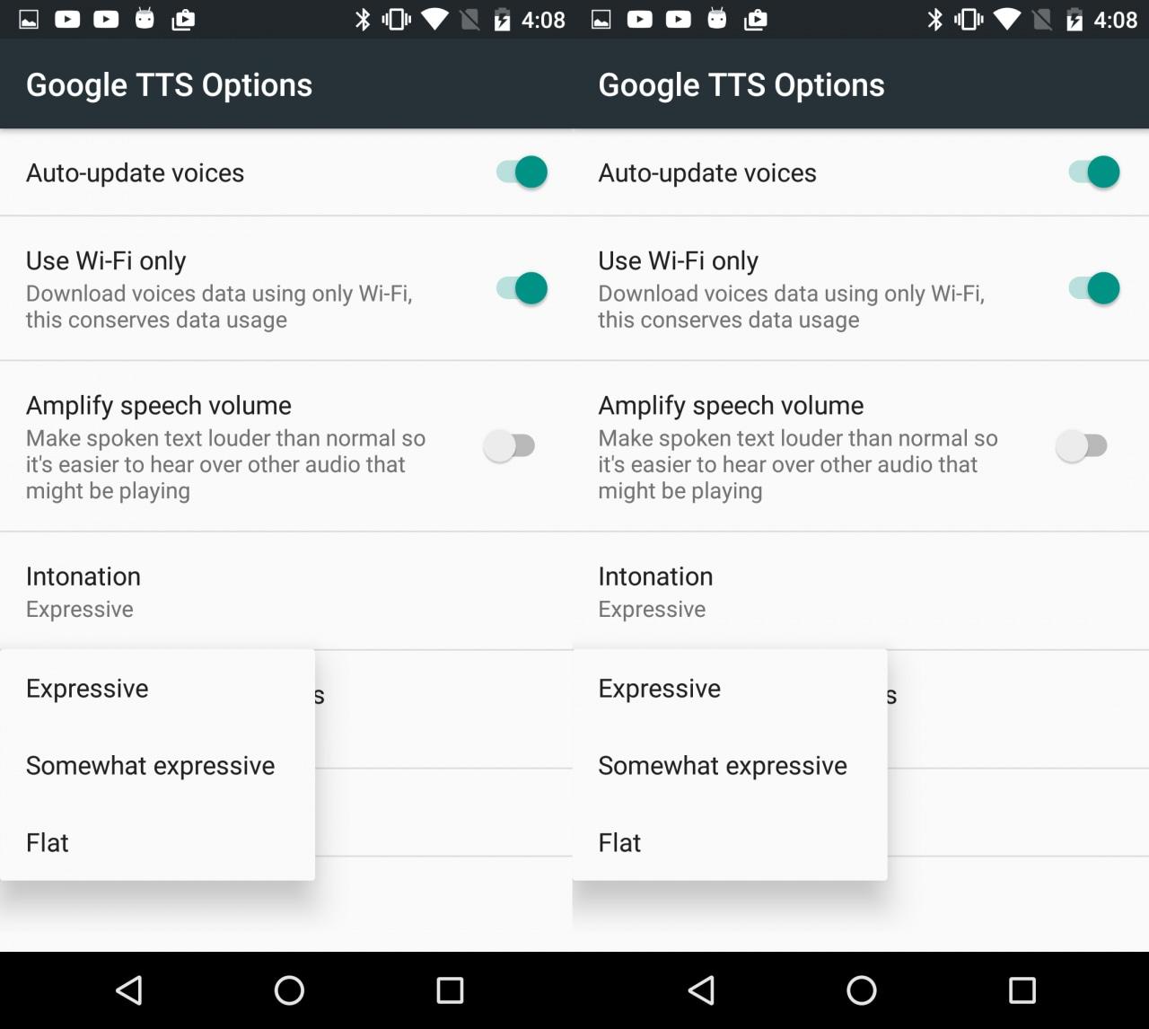 Sintesi vocali di Google si aggiorna e aggiunge opzioni per intonazione e volume (foto e download apk) (aggiornato)