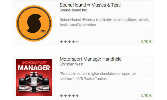 SoundHound e Motorsport Manager Handheld possono essere vostri a 10 centesimi ciascuno (video)