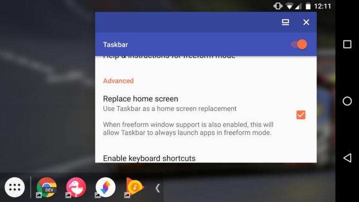 Taskbar si aggiorna alla versione 1.2 e vuole diventare il vostro launcher predefinito (foto)