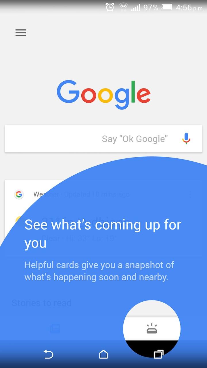 Google App – Upcoming – 1