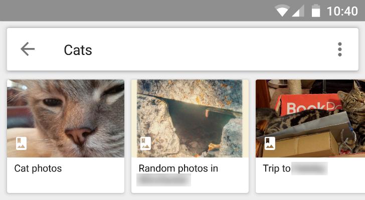 La ricerca di Google Foto include anche gli album