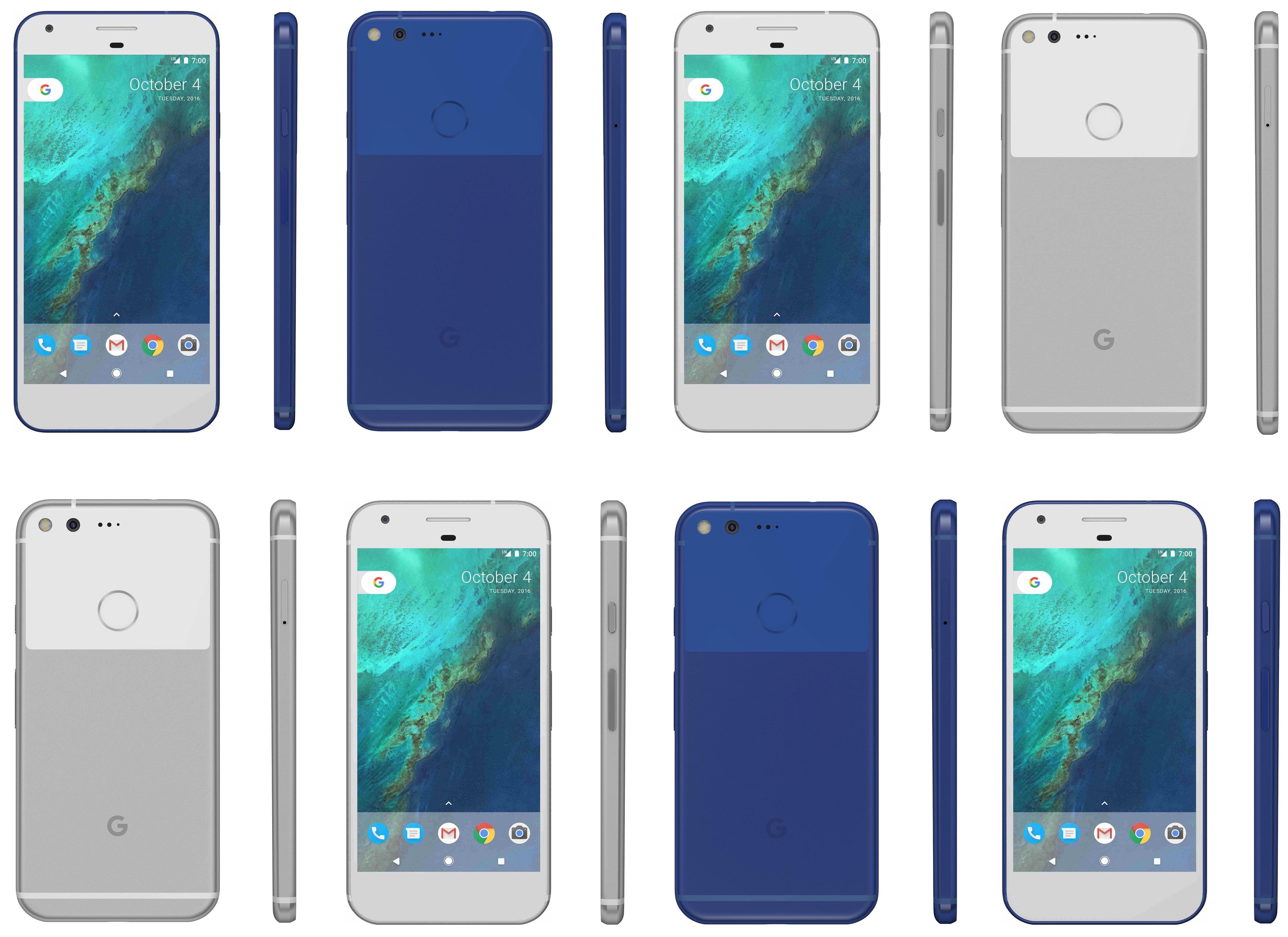 Google Pixel blu bianco