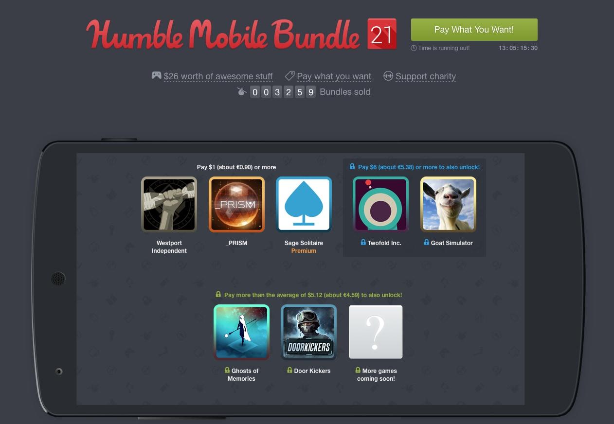 Il nuovo Humble Mobile Bundle 21 è piuttosto interessante (aggiornato: nuovi giochi!)