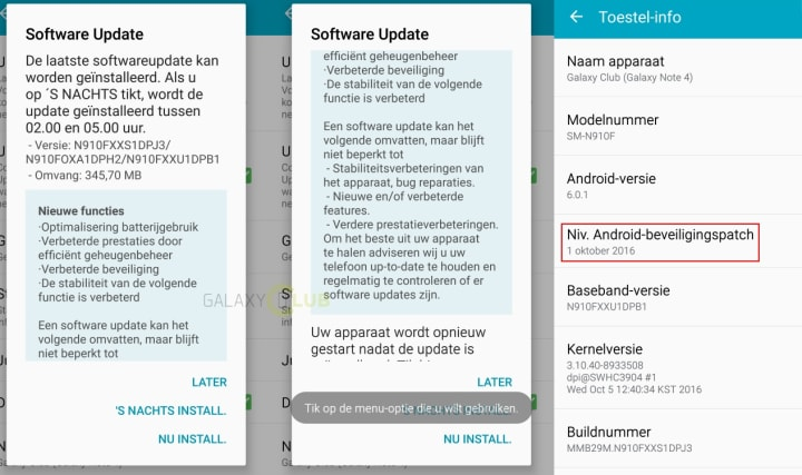Samsung Galaxy Note 4 riceve uno degli ultimi aggiornamenti di sistema ufficiali