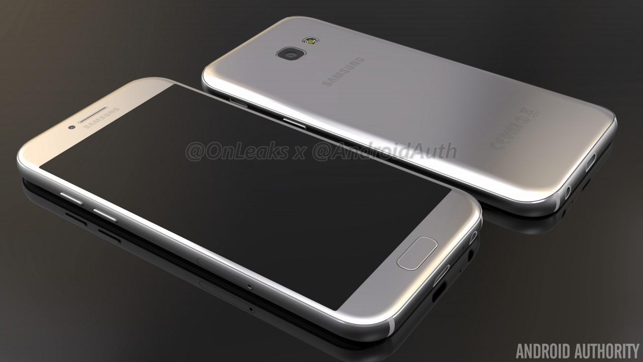 Samsung Galaxy A5 (2017) si mostra nei primi render (foto e video)