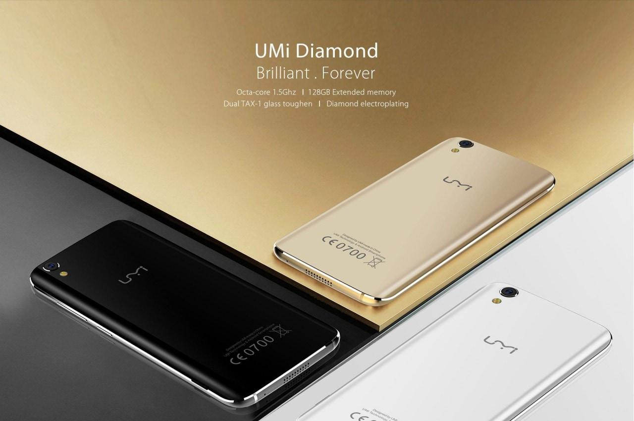 UMi Diamond è ufficiale: design raffinato e schermo super-resistente (foto)