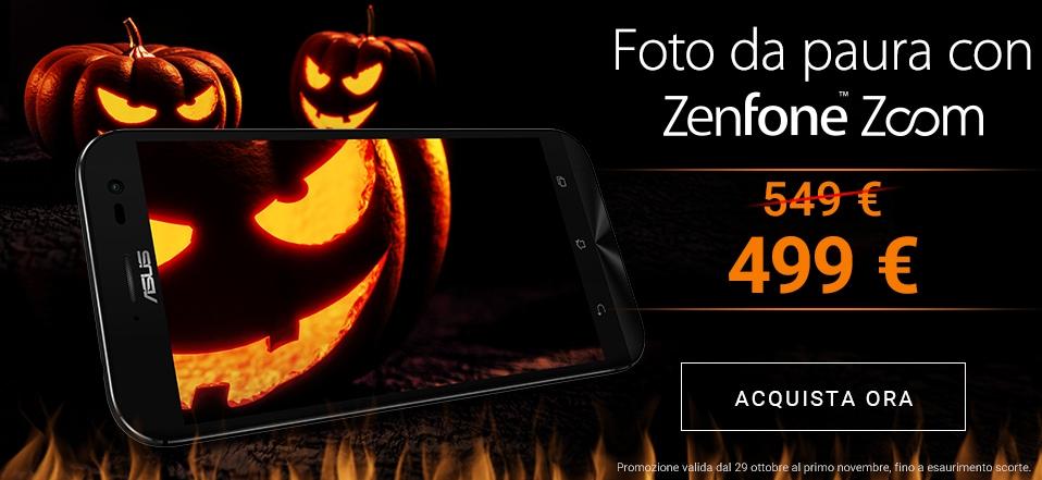 ZenFone Zoom in sconto a 499€ con la promozione di Halloween (foto)