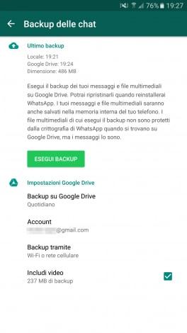 backup whatsapp android