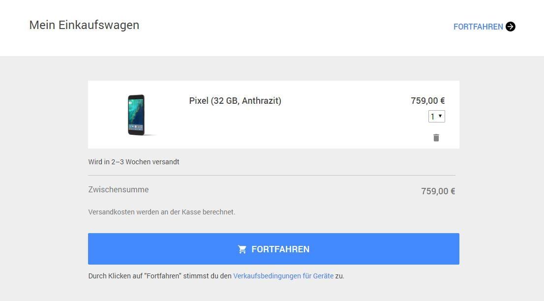 google pixel prezzo germania