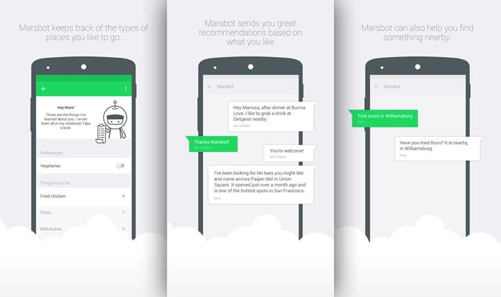 Marsbot, il chatbot di Foursquare, arriva su Android in beta privata, ma solo in un paio di città
