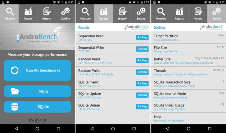Androbench è ora più moderno e performante, anche con Android Nougat (foto)