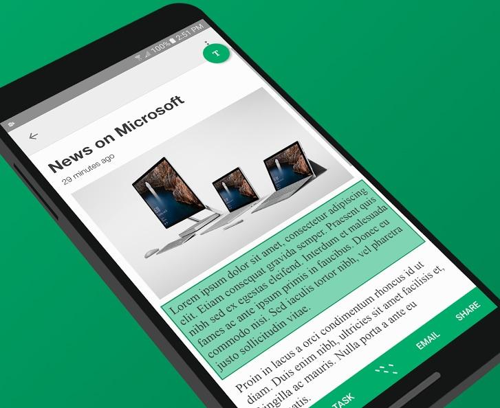 Microsoftvuole migliorare il copia & incolla di Android con Clip Layer (foto)