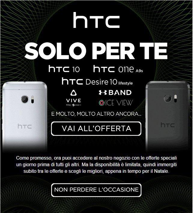 Ecco le offerte Black Friday di HTC valide da domani 25 novembre