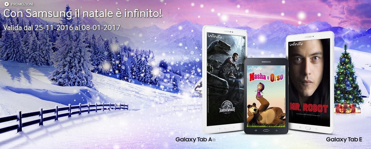 Samsung regala un anno di Infinity a chi acquista un Galaxy Tab A o Tab E