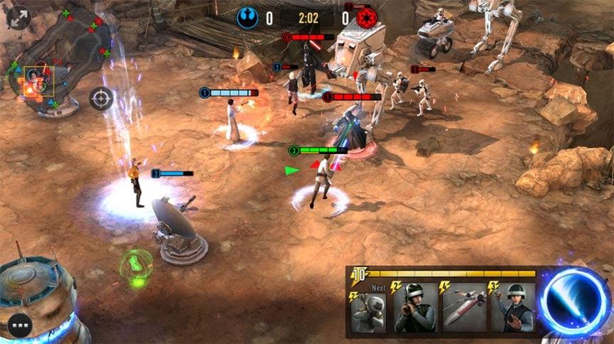 Star Wars: Force Arena è una sorta di clone di Clash Royale (download apk)