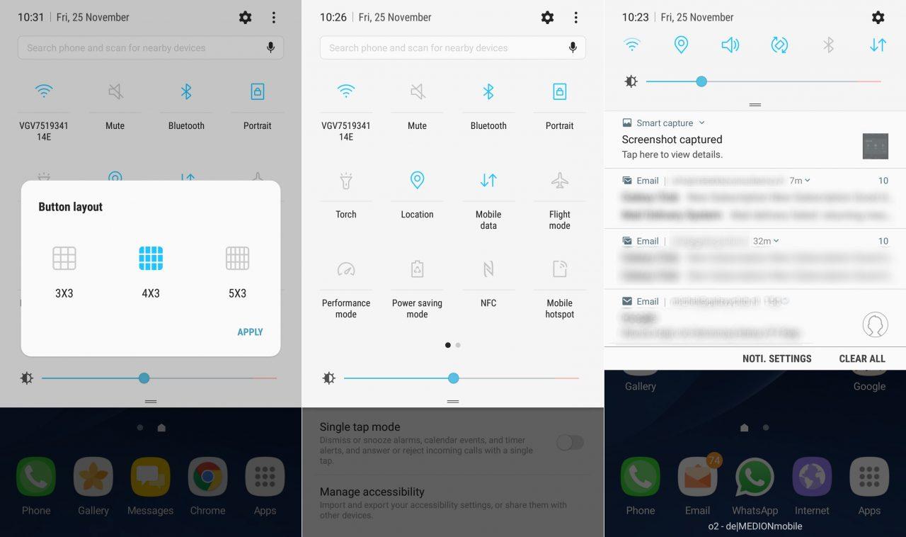 Samsung rilascia un nuovo aggiornamento della beta di Nougat per Galaxy S7 ed S7 edge (foto)