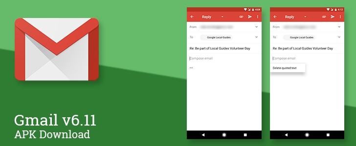 Gmail si aggiorna con qualche modifica al testo citato (foto)