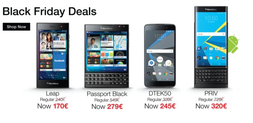 BlackBerry Priv e DTEK50 al prezzo più basso di sempre in occasione del Black Friday