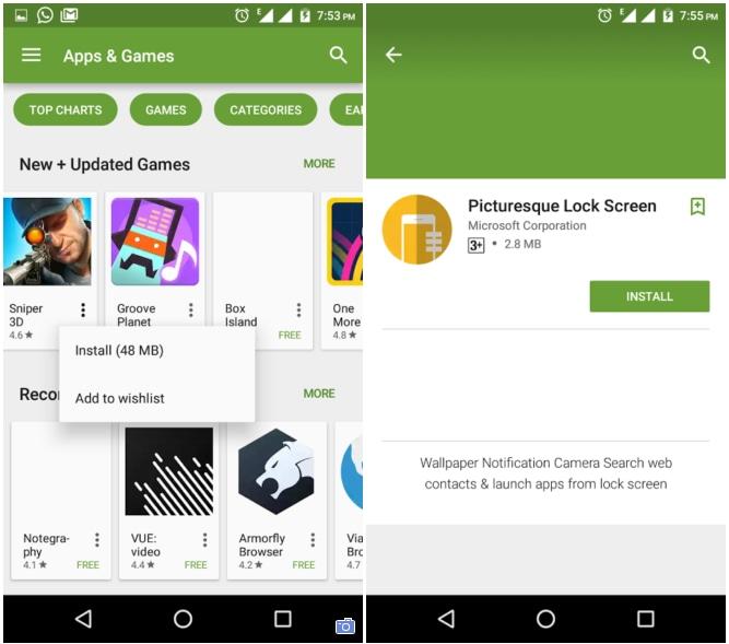 dimensioni app play store