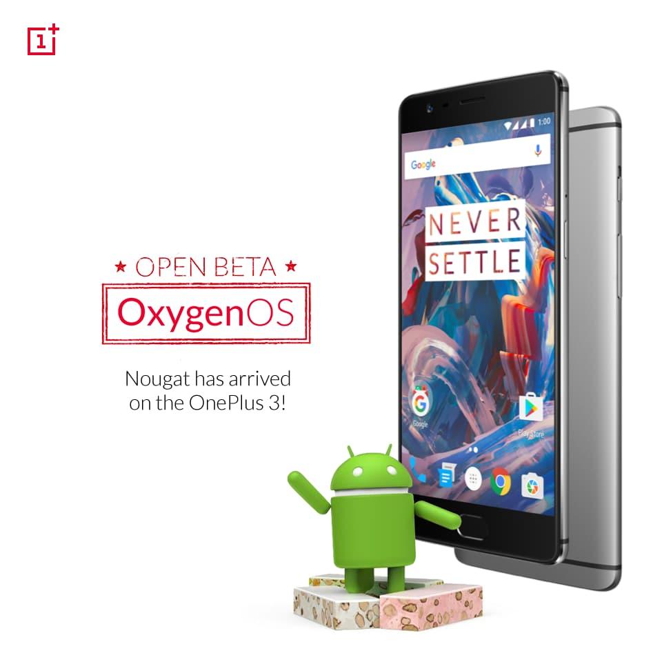 OnePlus 3 riceve la sua prima beta con Android Nougat: changelog e download