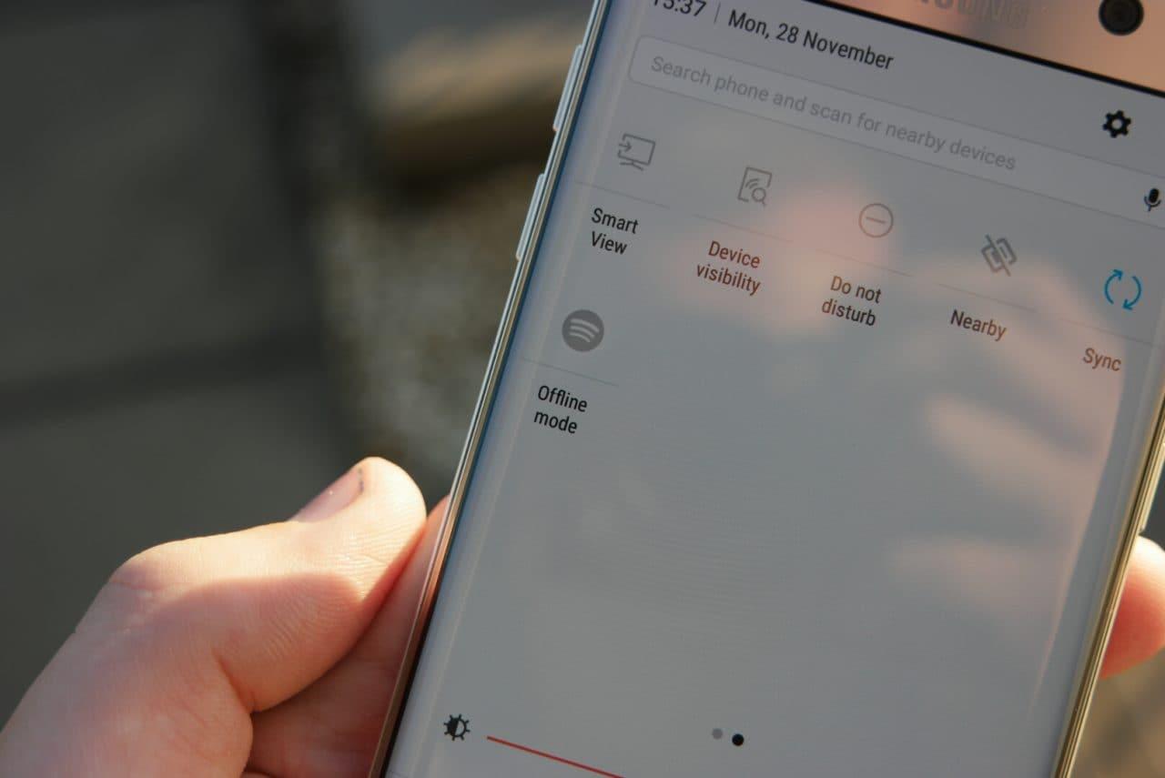 Nougat beta per Galaxy S7 porta l'integrazione coi toggle di terze parti (foto)