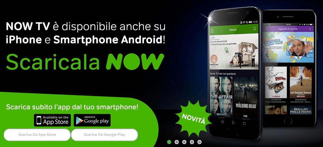 L'app NOW TV di Sky è finalmente compatibile con smartphone Android (download apk)