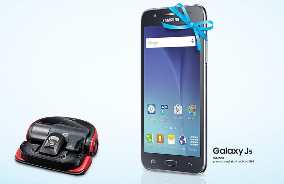 Samsung vi regala Galaxy J5 con l'aspirapolvere smart POWERbot