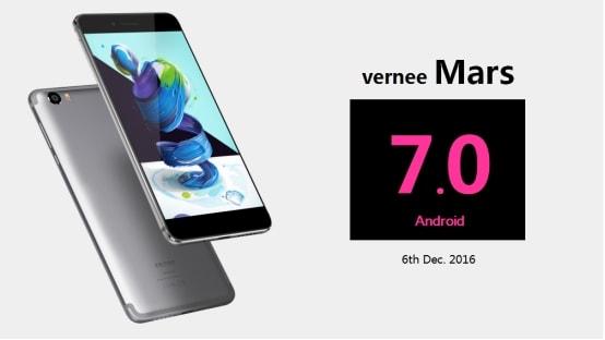 Vernee Mars si aggiorna ufficialmente ad Android 7.0 Nougat