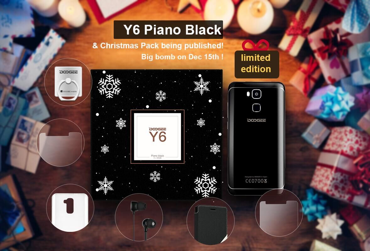 DOOGEE Y6 Piano Black: dal 15 dicembre arriva l'edizione limitata Christmas Pack (video)
