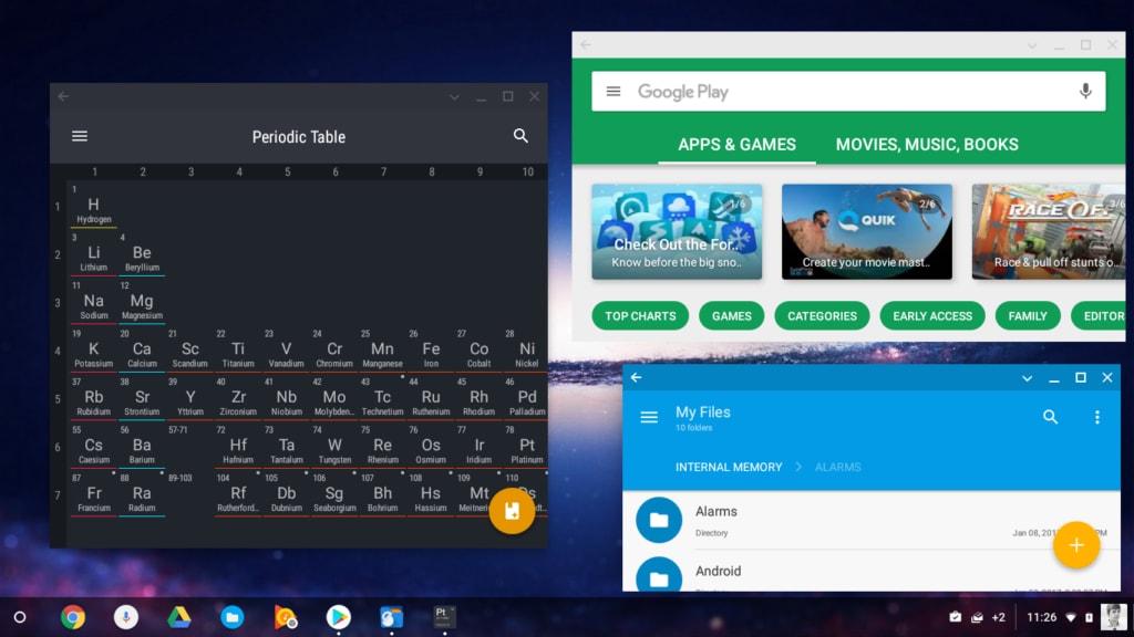 ChromeOS basato su Android 7.1 in arrivo sui Chromebook