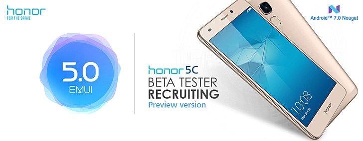 Honor 5C ha la sua beta privata per Nougat