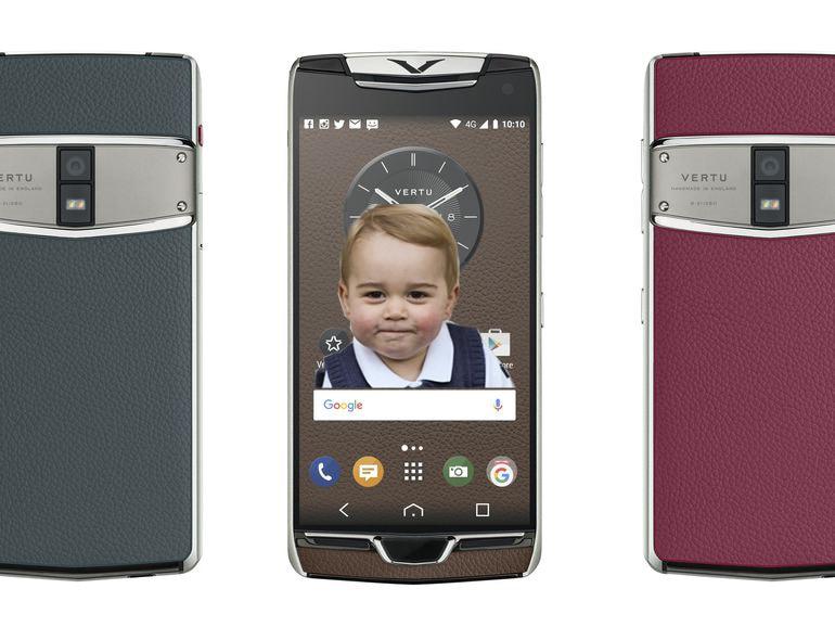 """Il nuovo Vertu """"Baby George approved"""" in pelle e alluminio con pulsante fisico di rubino"""