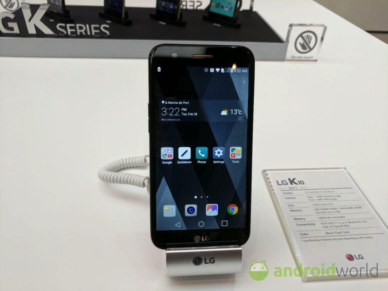LG K10 2017, la nostra anteprima dal MWC (foto e video)