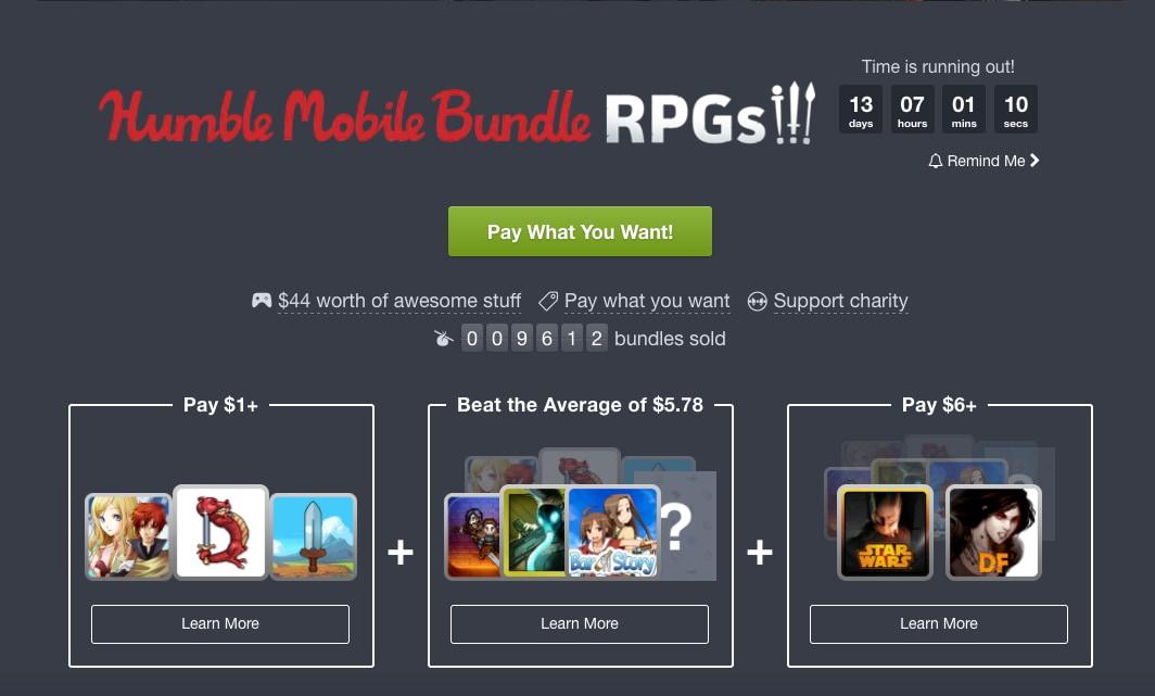 Il nuovo Humble Mobile Bundle è dedicato ai giochi di ruolo (aggiornato: due nuovi giochi)