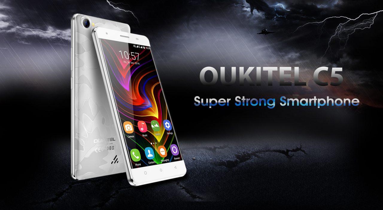 OUKITEL C5 ufficiale: identico alla versione Pro, ma meno potente e senza LTE (foto)