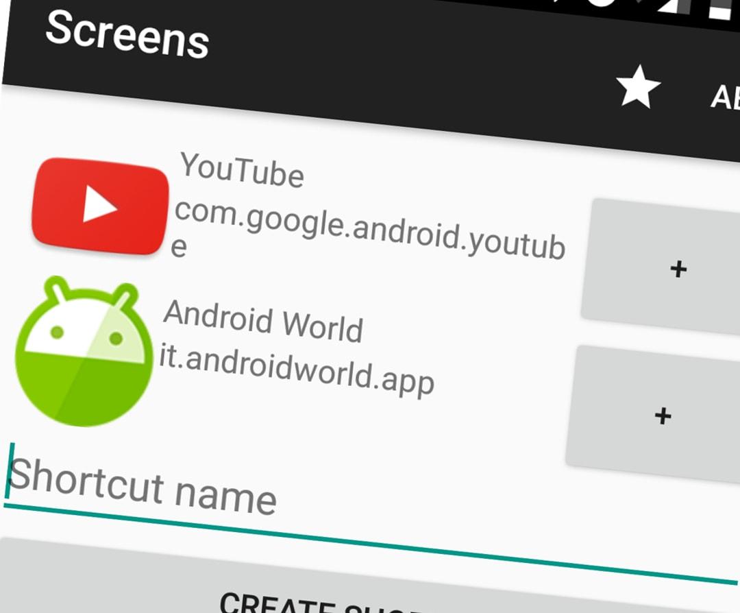 Screens vi fa creare scorciatoie per lanciare app in split-screen (foto)
