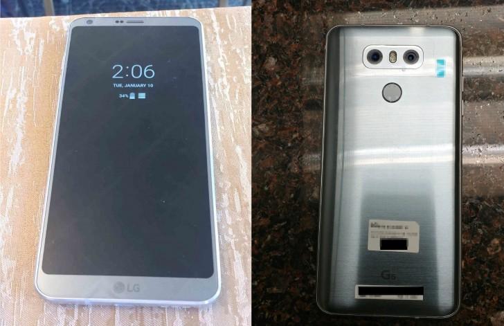 LG G6 appare ancora in nuove immagini, stavolta con lo schermo acceso