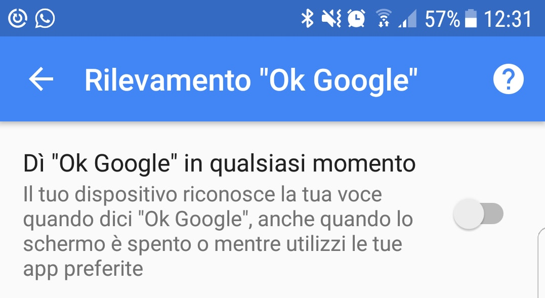 rilevamento-ok-google