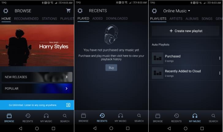 Amazon Music elimina il menu laterale in favore di una nuova barra inferiore (foto)